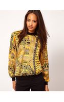 ASOS Collection Asos Woven Sweat Top with Baroque Print - Lyst