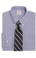 Brooks Brothers Supima Cotton Noniron Regular Fit Bengal Stripe Dress Shirt - Lyst