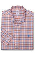 Brooks Brothers Noniron Regular Fit Unbalanced Check Sport Shirt - Lyst