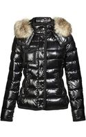 Moncler Racoon Hood Quilted Jacket - Lyst