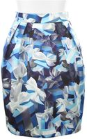 Mary Katrantzou Mini Corolla Skirt in Silk with Allover Digital Print - Lyst
