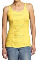Old Navy Lace Trim Jersey Tanks - Lyst