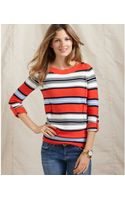 Tommy Hilfiger Kate Long Sleeve Striped Boatneck - Lyst