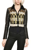 James Long Embroidered Nappa Leather Jacket - Lyst