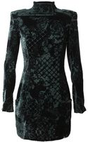 Balmain Devore Velvet Dress - Lyst