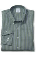 Brooks Brothers Non-Iron Slim Fit Micro Check Sport Shirt - Lyst