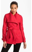 Ted Baker Wing Collar Wrap Coat - Lyst