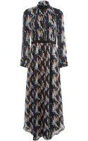 Theyskens' Theory Crystal Print Maxi Dress - Lyst