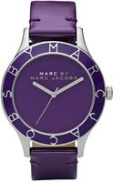 Marc By Marc Jacobs Blade Purple Patent Leather Strap Watch  - Lyst