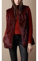 Burberry Brit Fur Gilet - Lyst