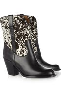 Michael Kors Leather and Calf Hair Cowboy Boots - Lyst