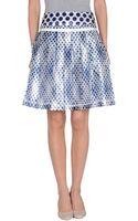 D&G Knee Length Skirt - Lyst