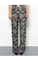 Theory Snake Print Silk Pants - Lyst