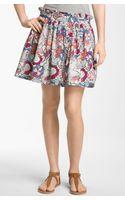 Frenchi® Print Skirt - Lyst