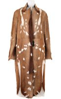Revillon Maxi Coat in Short Haired Natural Antilop Fur - Lyst