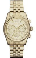 Michael Kors Midsize Golden Lexington Chronograph Stainless Steel Watch - Lyst