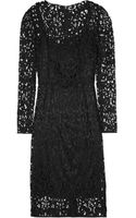 Dolce & Gabbana Wool Blend Lace Dress - Lyst