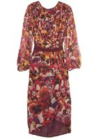 Giambattista Valli Silk Flower Print Dress - Lyst