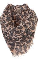 Topshop Leopard Scarf - Lyst
