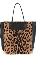 Alexander Wang Prisma Tote in Leopard Print Haircalf with Pale Gold Hardware Corners - Lyst