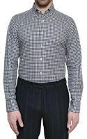 Canali Vichy Cotton Slim Fit Shirt - Lyst
