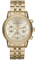 Michael Kors Womens Chronograph Ritz Gold Tone Stainless Steel Bracelet 36mm - Lyst