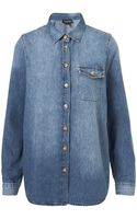 Moto  Vintage Oversize Denim Shirt - Lyst