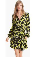 Diane Von Furstenberg Dora Silk Faux Wrap Dress - Lyst