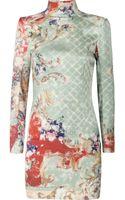 Balmain Printed Silk-sateen Dress - Lyst