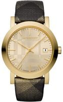 Burberry Womens Swiss Shimmer Check Fabric Strap Watch - Lyst