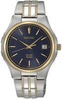 Seiko Solar Two Tone Stainless Steel Bracelet Watch  - Lyst
