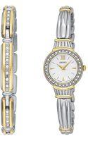 Seiko Womens Two Tone Stainless Steel Bracelet Watch - Lyst