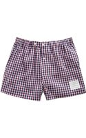 Thom Browne Check Boxers - Lyst
