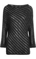 Donna Karan New York Ladders-Stitch Mohair-Blend Sweater - Lyst