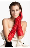 Lanvin Long Lambskin Leather Gloves - Lyst