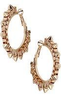 Topshop Box Spike Hoop Earrings - Lyst