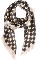 David Szeto Ikat Checkered Square Scarf - Lyst