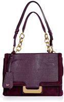 Diane Von Furstenberg Garnet Embossed Leathersuede New Harper Shoulder Bag - Lyst