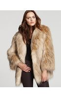 Juicy Couture Feather Faux Fur Jacket - Lyst