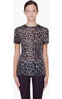 Christopher Kane Grey Leopard Print Tshirt - Lyst