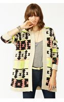 Nasty Gal Azteca Knit Cardi - Lyst
