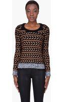Rag & Bone Bronze Wool Lisbeth Sweater - Lyst