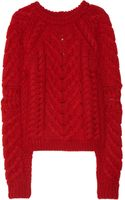 Isabel Marant Cable-Knit Wool Sweater - Lyst