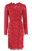 Valentino Long Sleeve Bow Back Lace Dress - Lyst