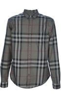 Burberry Brit Check Print Shirt - Lyst