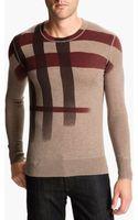 Burberry Brit Crewneck Cashmere Cotton Sweater - Lyst