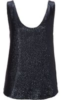 French connection Alexis Sequins Vest Top - Lyst