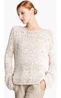 Donna Karan New York Collection Ribbon Knit Sweater - Lyst