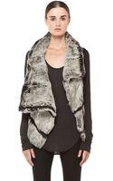 Helmut Lang Spanish Flux Fur Vest in Black - Lyst