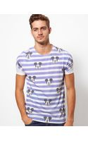 Asos  Stripe T-Shirt with Mickey Sublimation Print - Lyst